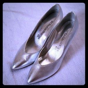 Vtg Silver Colorifics Heels